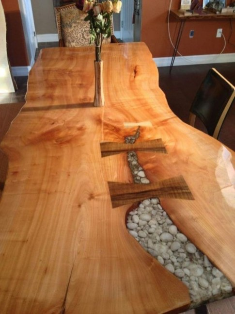 Impressive Home Furniture Ideas With Resin Wood Table 44