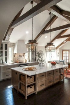 Latest Farmhouse Kitchen Décor Ideas On A Budget 41