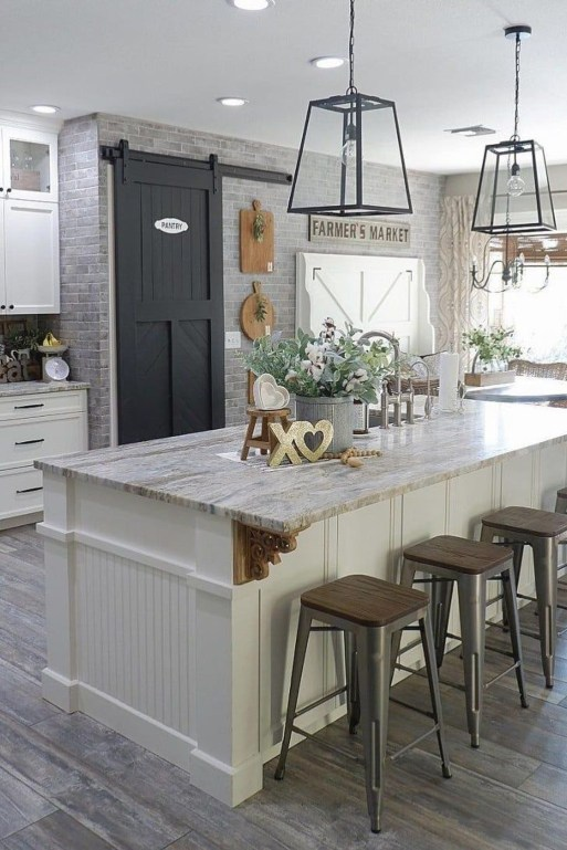 Latest Farmhouse Kitchen Décor Ideas On A Budget 53