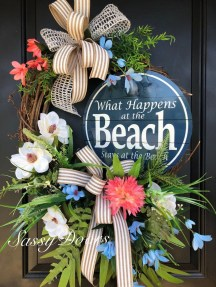 Newest Front Door Wreath Decor Ideas For Summer 04