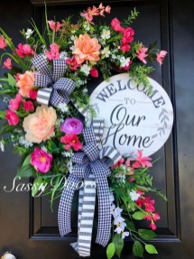 Newest Front Door Wreath Decor Ideas For Summer 05