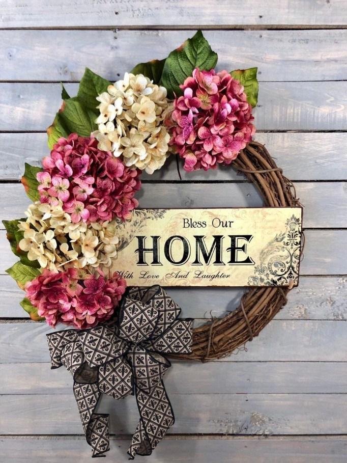 Newest Front Door Wreath Decor Ideas For Summer 37