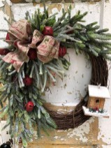 Adorable Front Door Christmas Decoration Ideas That Trend This Year 11