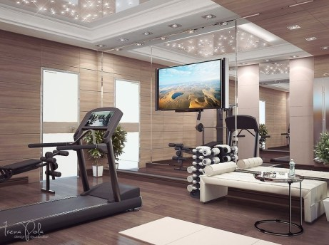 Astonishing Home Gym Room Design Ideas For Your Family 45