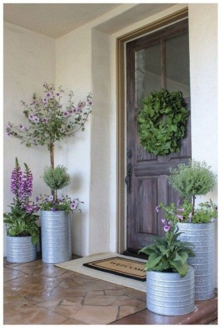 Perfect Porch Planter Design Idseas That Will Give Your Exterior A Unique Look 45