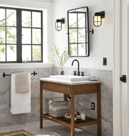 Wonderful Single Vanity Bathroom Design Ideas To Try 03