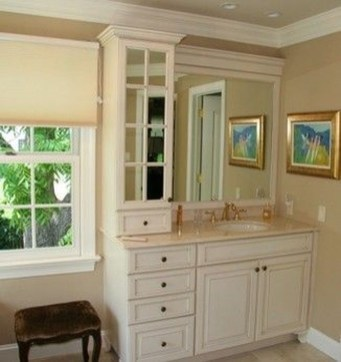 Wonderful Single Vanity Bathroom Design Ideas To Try 13