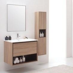 Wonderful Single Vanity Bathroom Design Ideas To Try 20