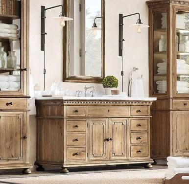 Wonderful Single Vanity Bathroom Design Ideas To Try 22