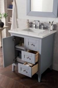 Wonderful Single Vanity Bathroom Design Ideas To Try 41