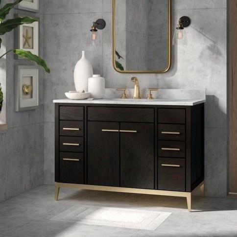 Wonderful Single Vanity Bathroom Design Ideas To Try 52