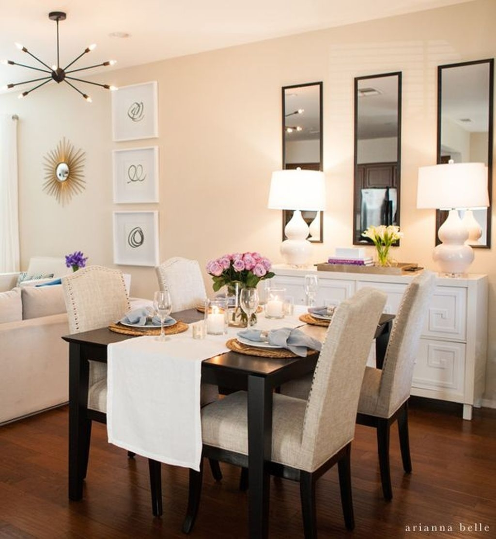 Awesome Dining Room Buffet Table Décor Ideas01