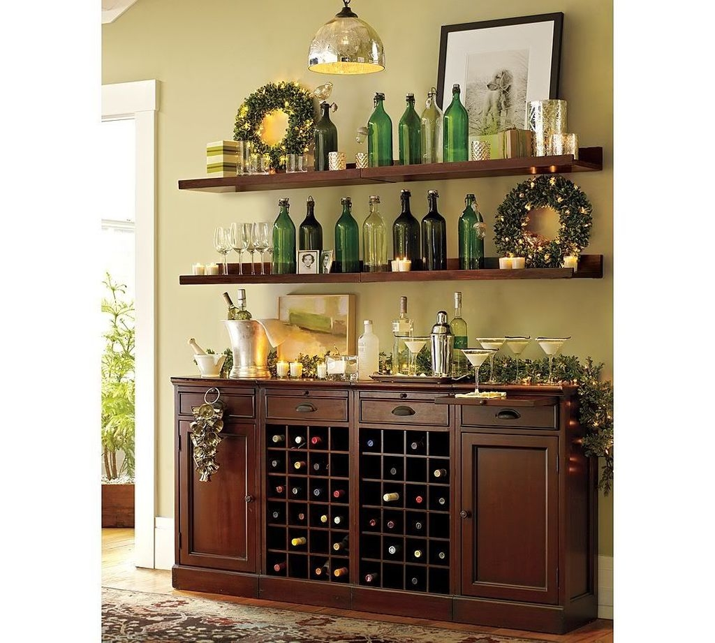 Awesome Dining Room Buffet Table Décor Ideas19