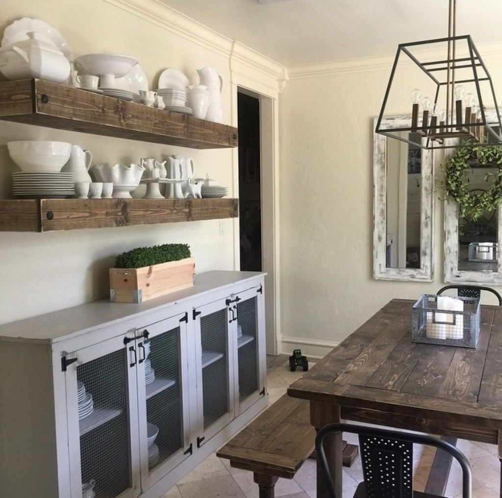 Awesome Dining Room Buffet Table Décor Ideas22