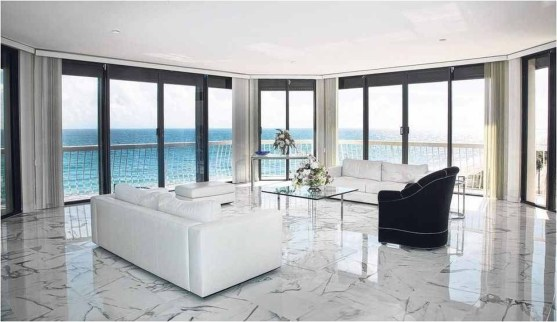 Awesome White Tiles Design For Living Room19