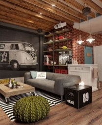 Cool Basement Living Room Design Ideas11