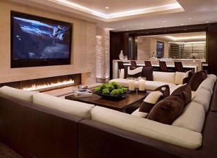 Cool Basement Living Room Design Ideas18