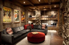 Cool Basement Living Room Design Ideas22