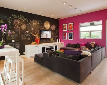 Cool Basement Living Room Design Ideas43
