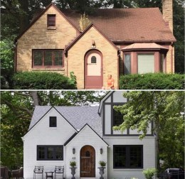 Adorable Brick House Exterior Makeover36