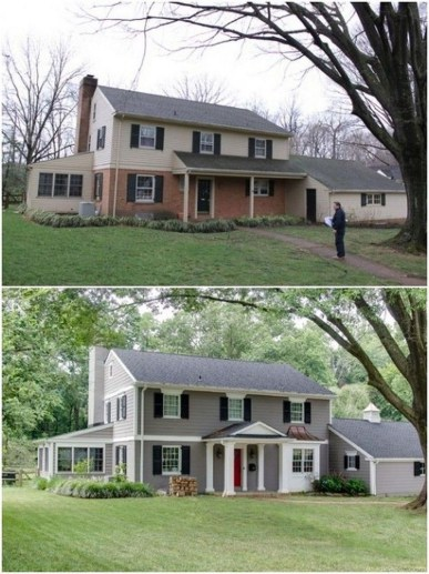 Adorable Brick House Exterior Makeover38