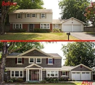Adorable Brick House Exterior Makeover43