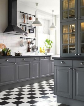 Affordable Black And White Kitchen Cabinets Ideas07