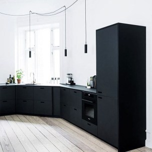 Affordable Black And White Kitchen Cabinets Ideas29