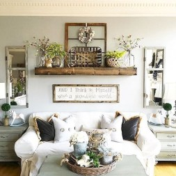 Awesome Living Room Design Ideas With Farmhouse Style12