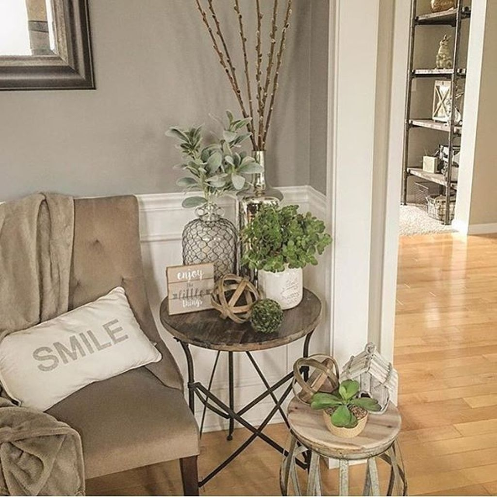 Awesome Living Room Design Ideas With Farmhouse Style13