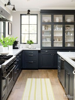 Best Ideas For Black Cabinets In Kitchen20