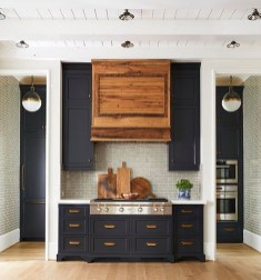 Best Ideas For Black Cabinets In Kitchen27