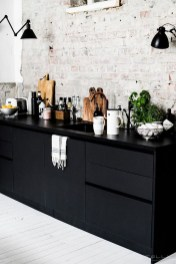 Best Ideas For Black Cabinets In Kitchen40