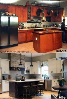 Comfy Kitchen Remodel Ideas For Small Kitchen34