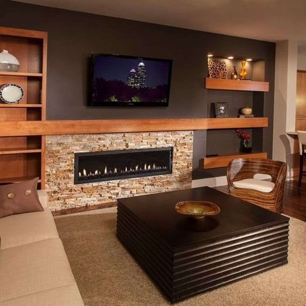 Impressive Living Room Ideas With Fireplace And Tv02