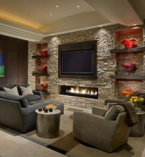 Impressive Living Room Ideas With Fireplace And Tv12