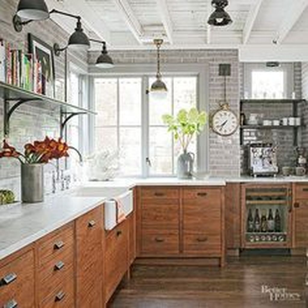Modern Farmhouse Kitchen Cabinet Makeover Design Ideas08