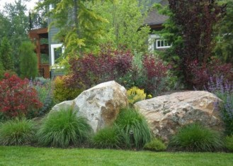 Cool Front Yard Rock Garden Ideas38