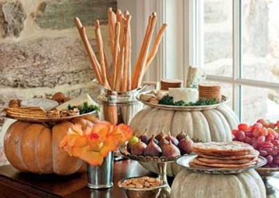Lovely White And Orange Pumpkin Centerpieces For Fall And Halloween Table11