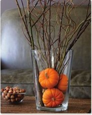 Lovely White And Orange Pumpkin Centerpieces For Fall And Halloween Table13