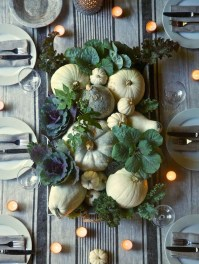 Lovely White And Orange Pumpkin Centerpieces For Fall And Halloween Table22