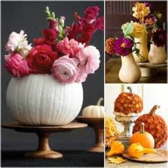 Lovely White And Orange Pumpkin Centerpieces For Fall And Halloween Table30