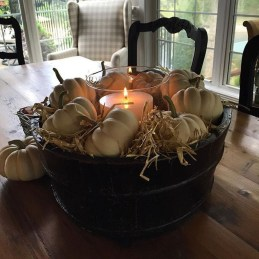 Lovely White And Orange Pumpkin Centerpieces For Fall And Halloween Table35