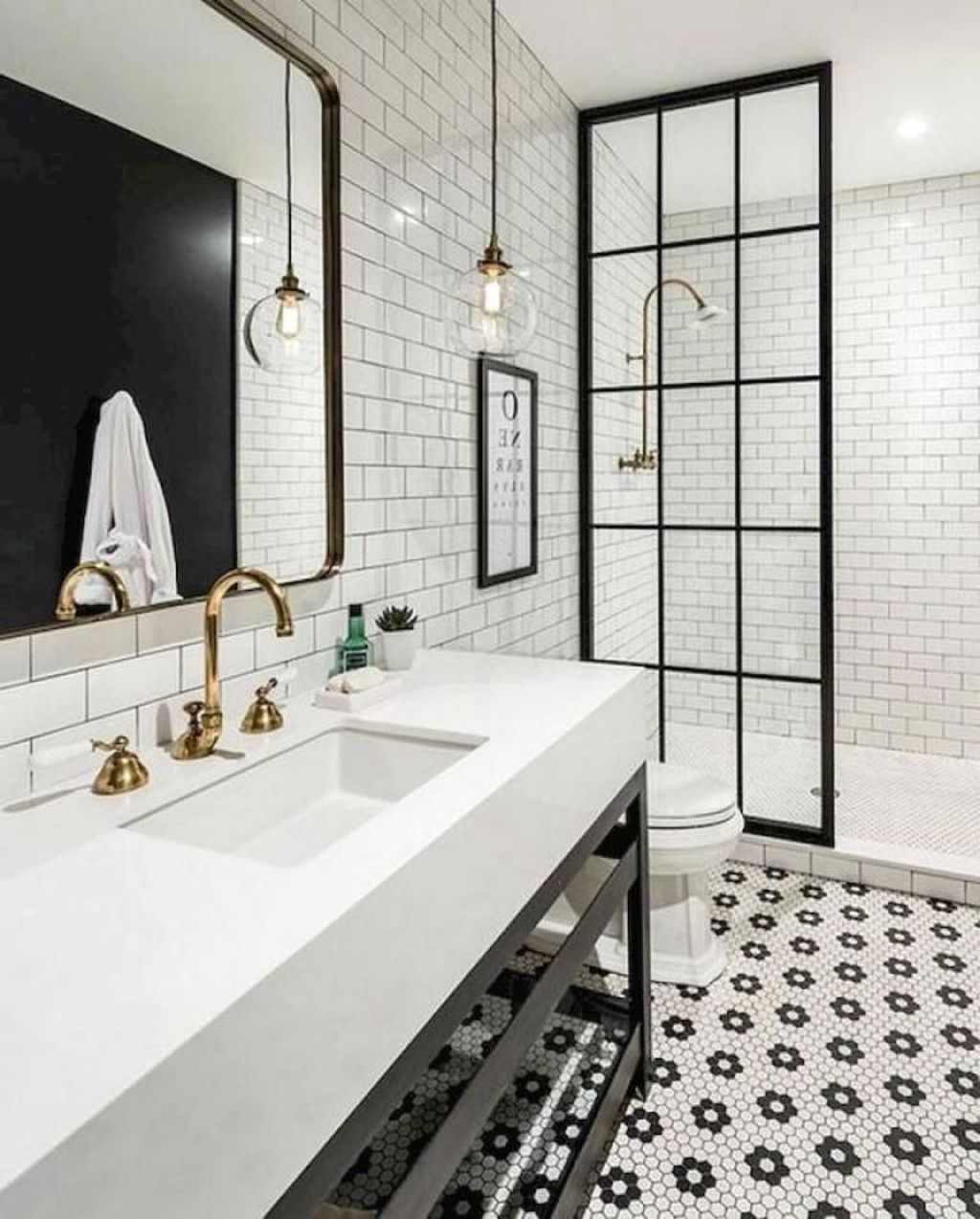 Lovely Farmhouse Shower Tiles Design Ideas40