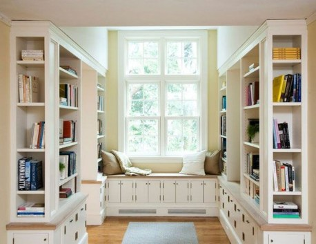 Stunning Window Seat Ideas With Padded Seat And Storage Below24