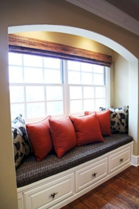Stunning Window Seat Ideas With Padded Seat And Storage Below30