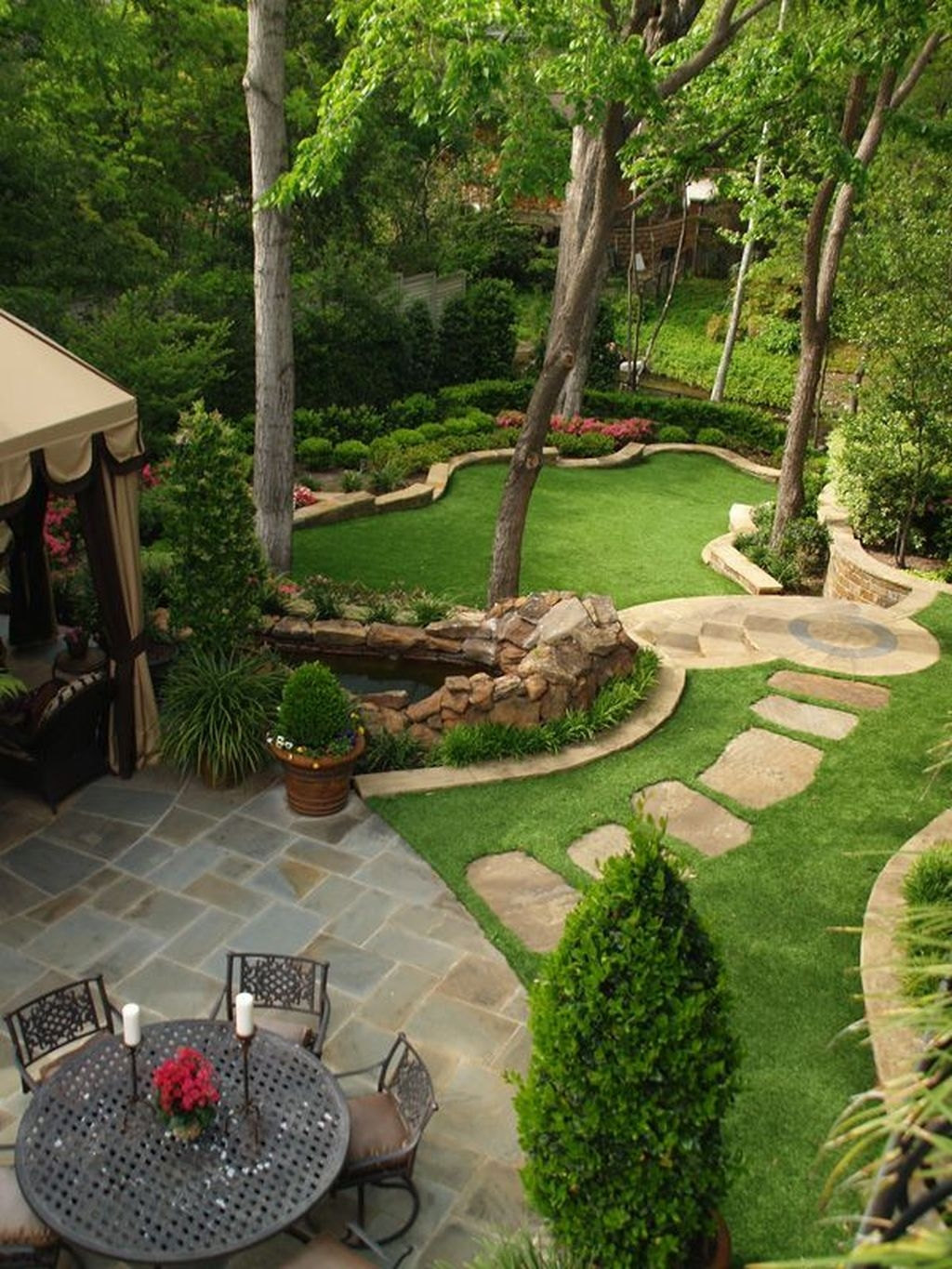 Stylish Backyard Landscaping Ideas For Your Dream House40