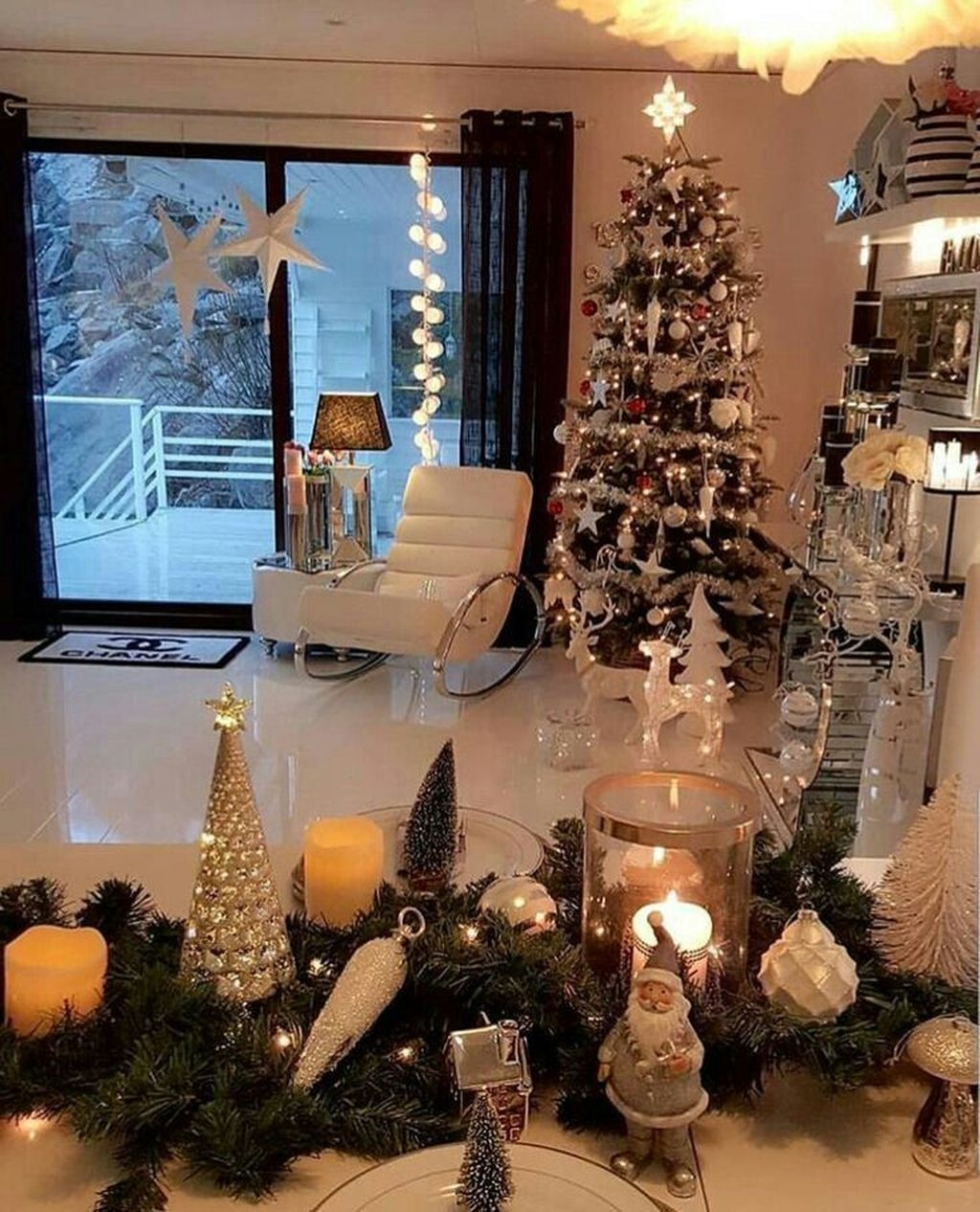 Awesome Vintage Christmas Living Room Decoration Ideas12