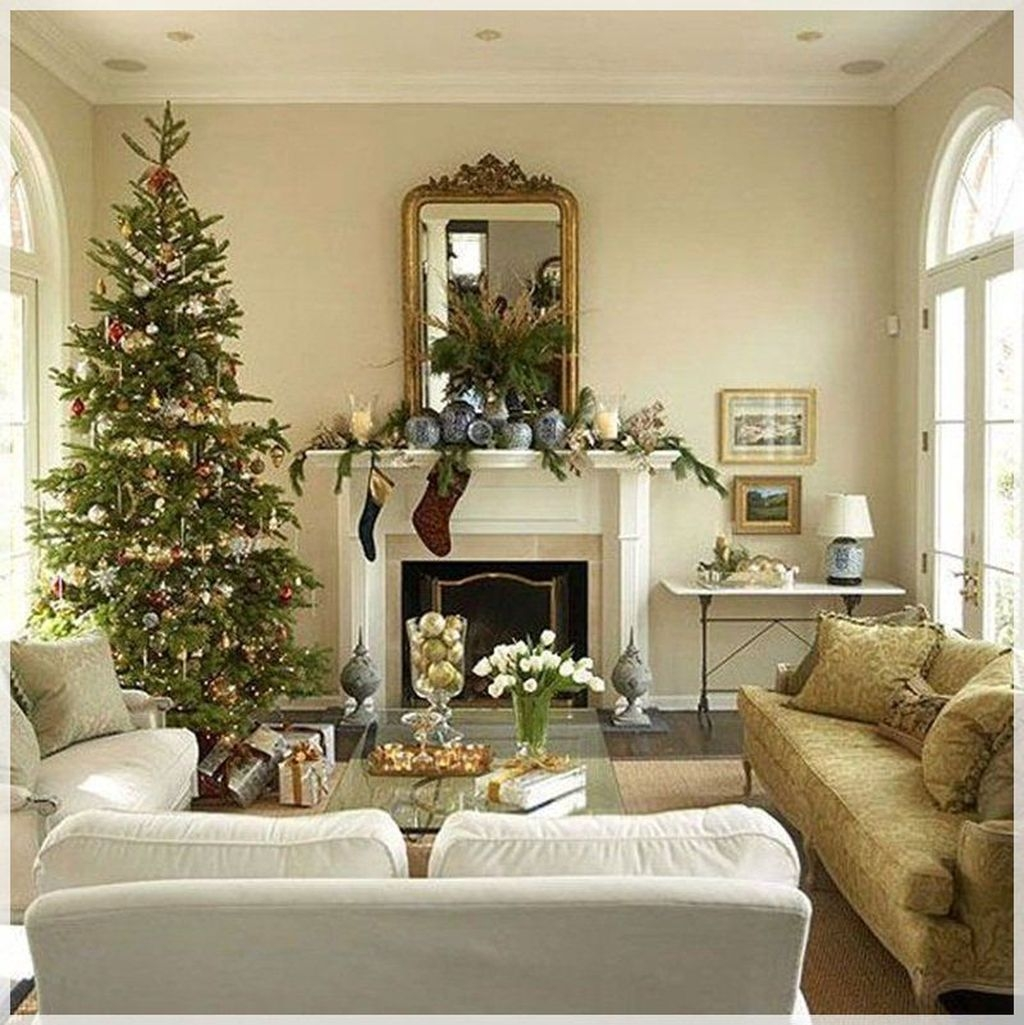 Awesome Vintage Christmas Living Room Decoration Ideas24