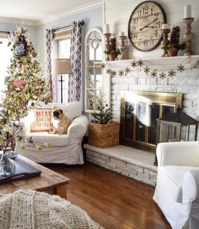 Awesome Vintage Christmas Living Room Decoration Ideas28